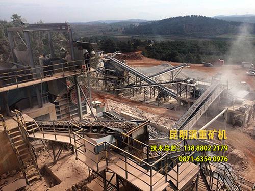 石料生产线整体鸟瞰图