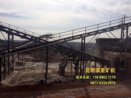 250方公分石生产线现场设备局部实拍