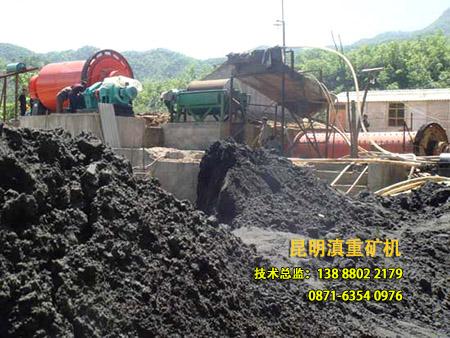 云南昆明滇重矿机生产的顺流式磁选机案例现场