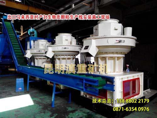 云南昆明滇重矿机出口马来西亚的生物燃料颗粒机